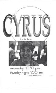 CYRUS... the t.v. show.