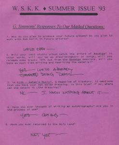 Cyrus Aman Gene Simmons Response